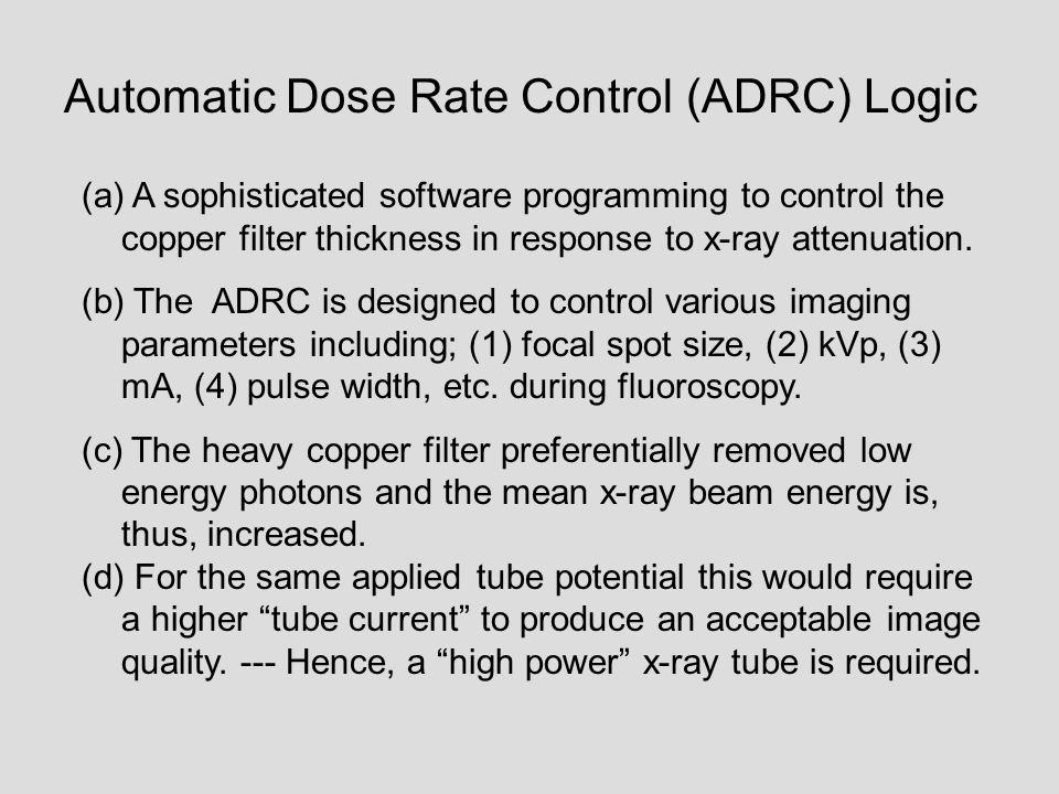 Automatic Dose Rate Control (ADRC) Logic