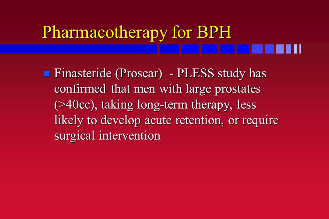 Pharmacotherapy for BPH