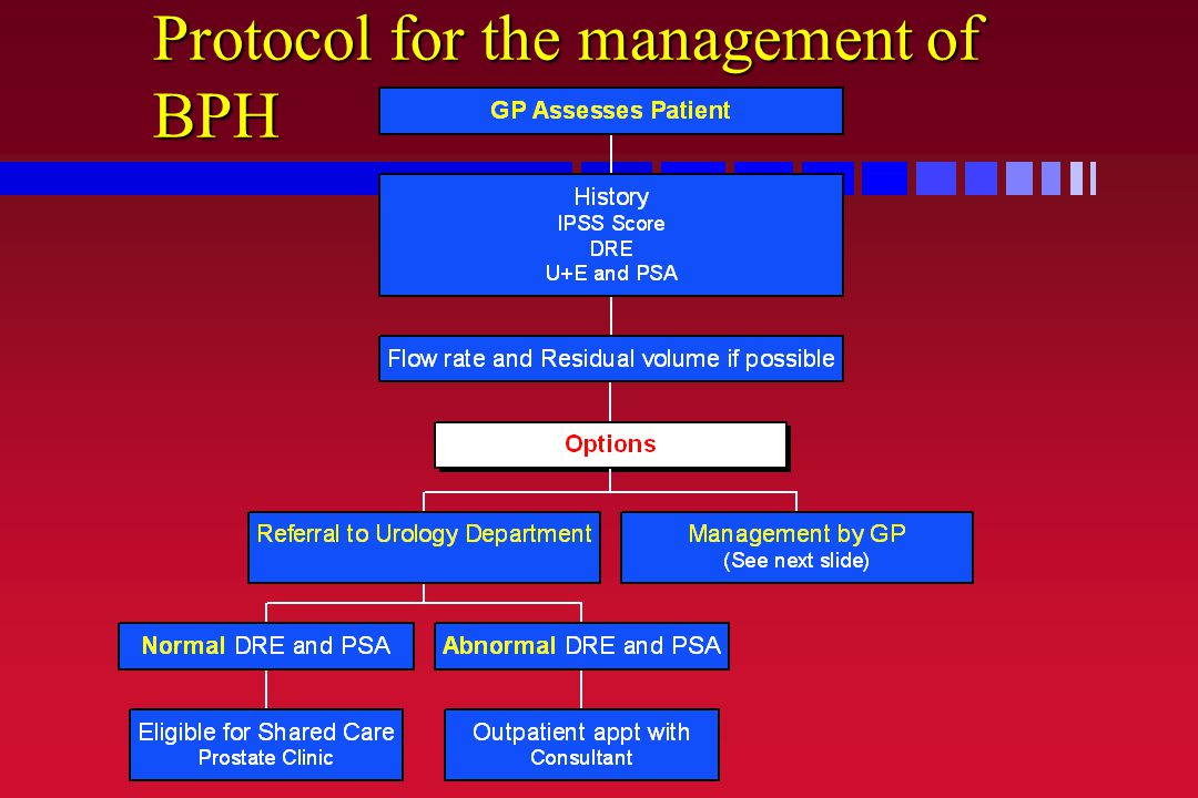 Protocol for the management of BPH