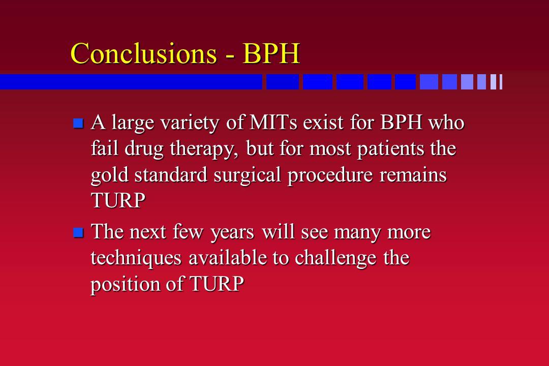 Conclusions - BPH