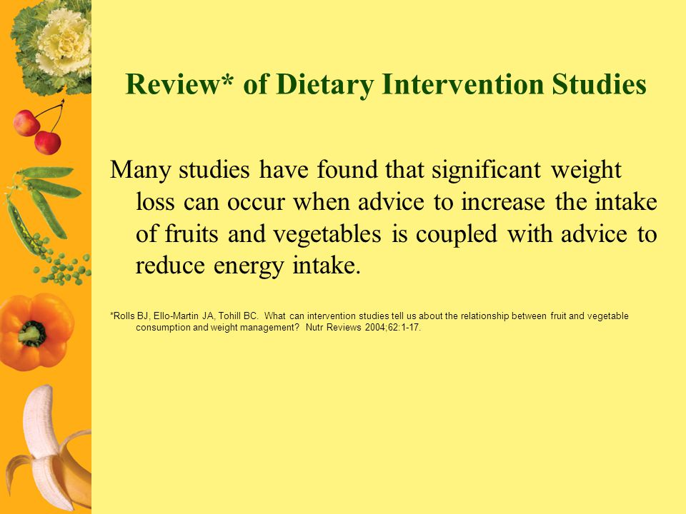 Review* of Dietary Intervention Studies