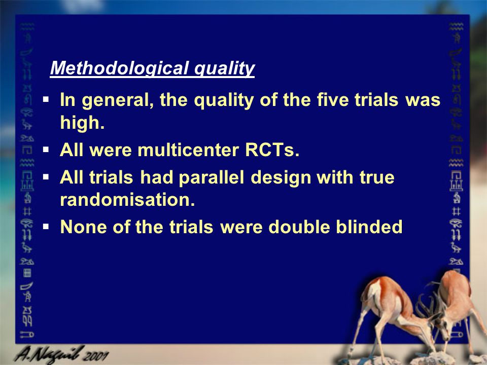 Methodological quality