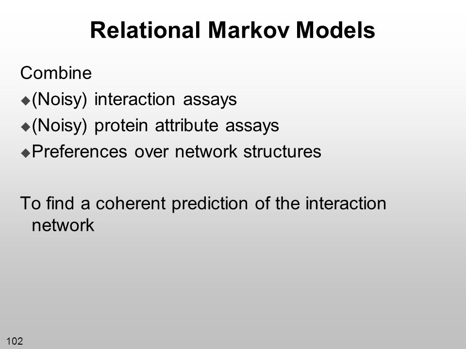 Relational Markov Models