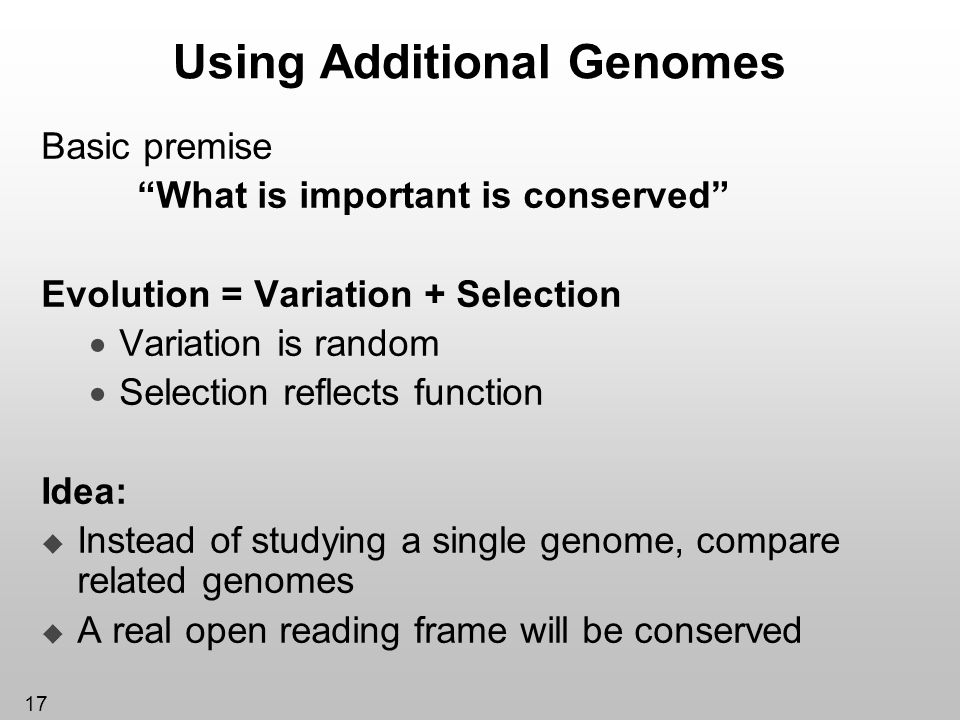Using Additional Genomes