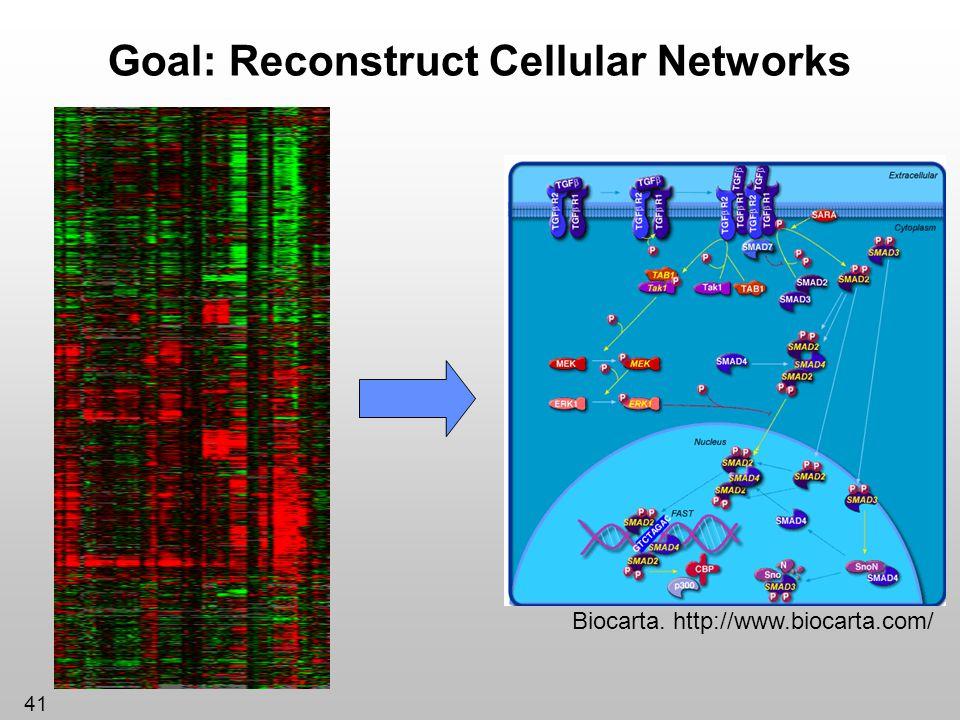 Goal: Reconstruct Cellular Networks