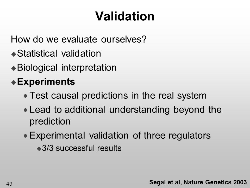 Segal et al, Nature Genetics 2003