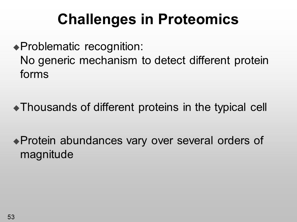 Challenges in Proteomics