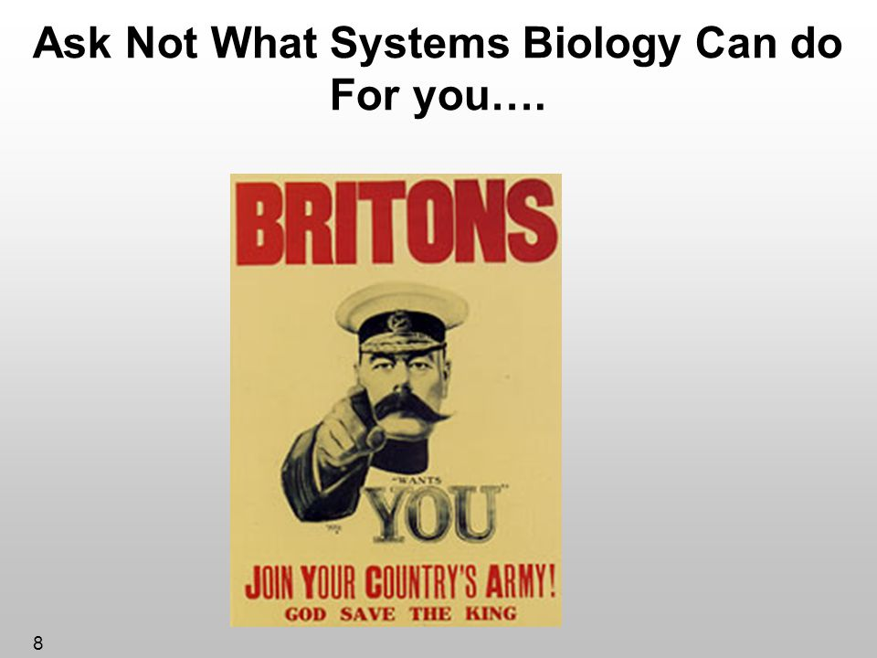 Ask Not What Systems Biology Can do For you….