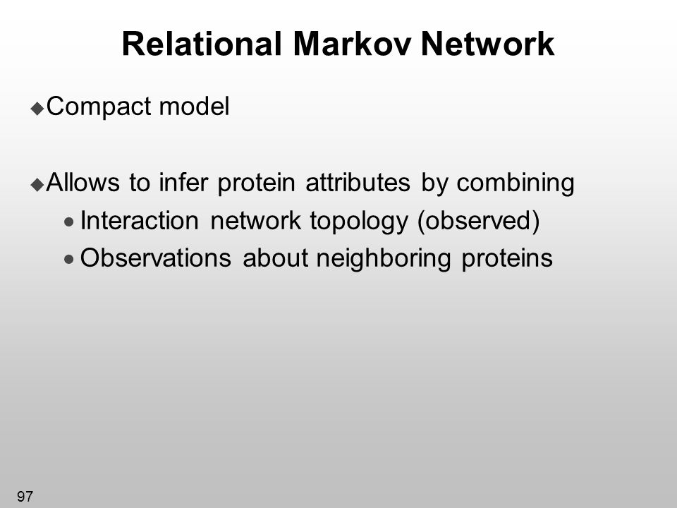 Relational Markov Network