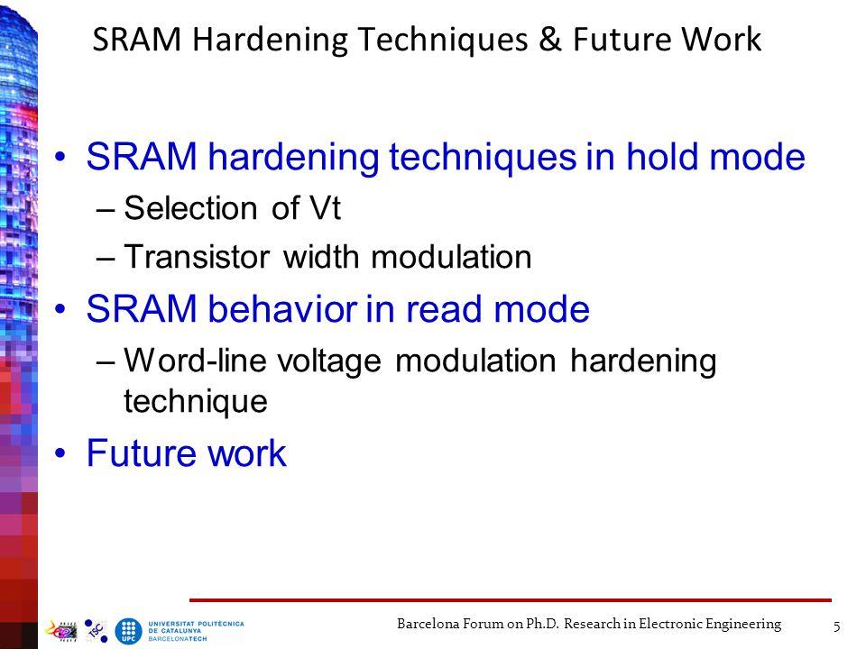 SRAM Hardening Techniques & Future Work
