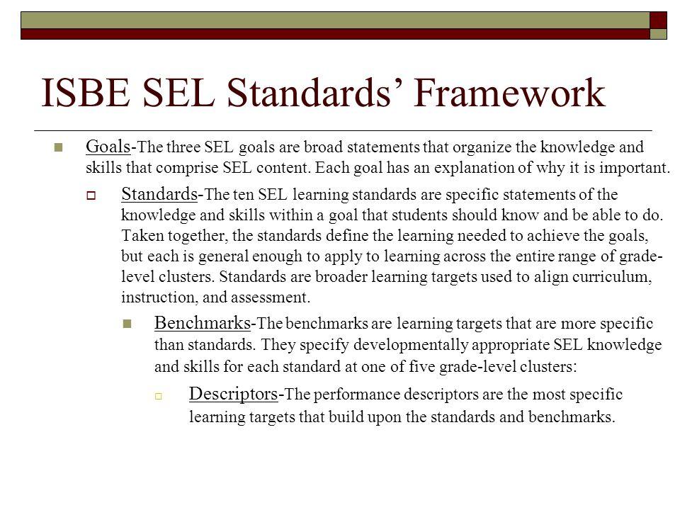 ISBE SEL Standards' Framework