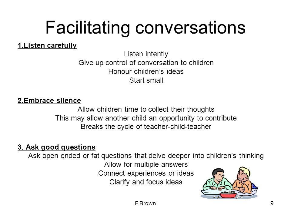 Facilitating conversations
