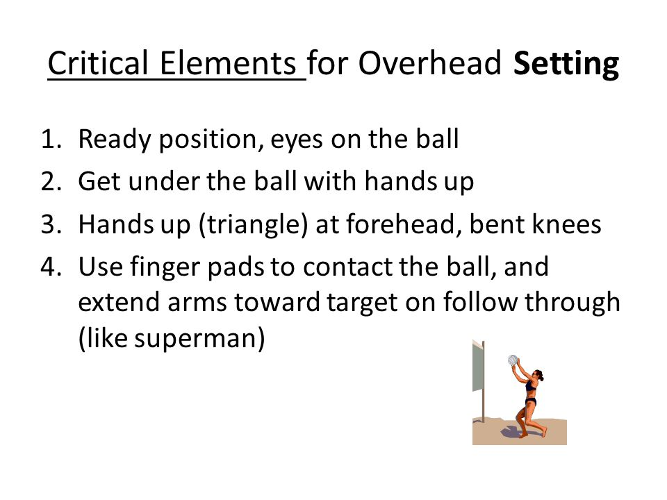 Critical Elements for Overhead Setting