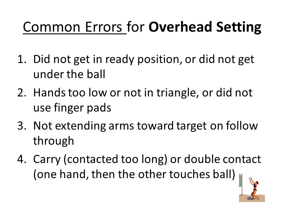Common Errors for Overhead Setting