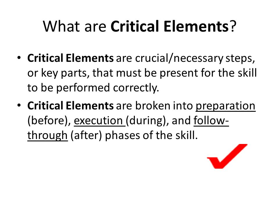 What are Critical Elements
