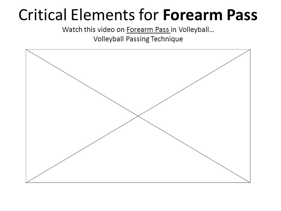Critical Elements for Forearm Pass Watch this video on Forearm Pass in Volleyball… Volleyball Passing Technique