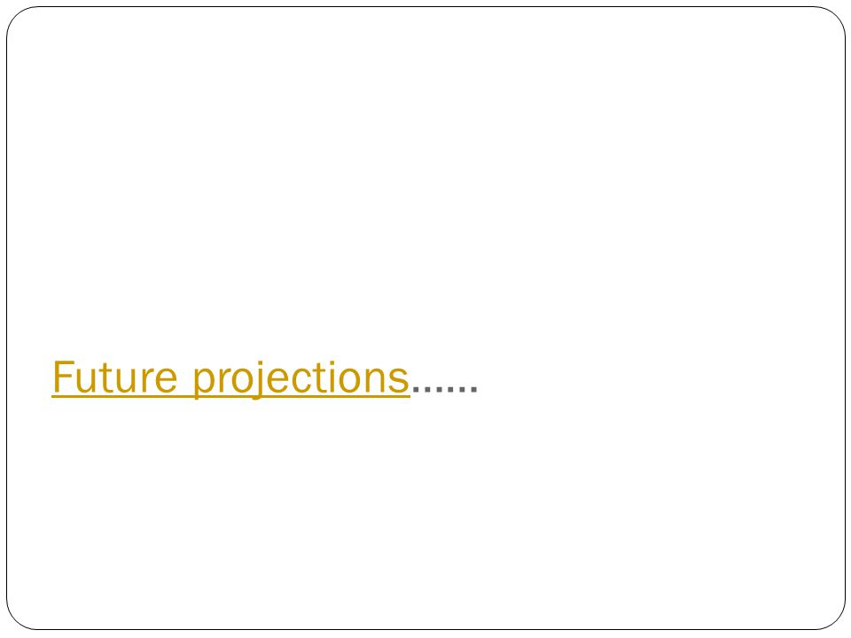 Future projections……