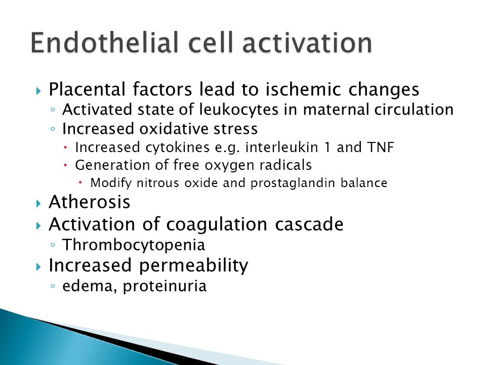 Endothelial cell activation