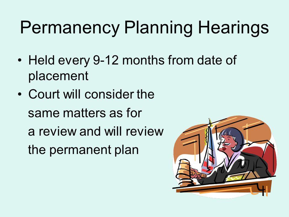 Permanency Planning Hearings