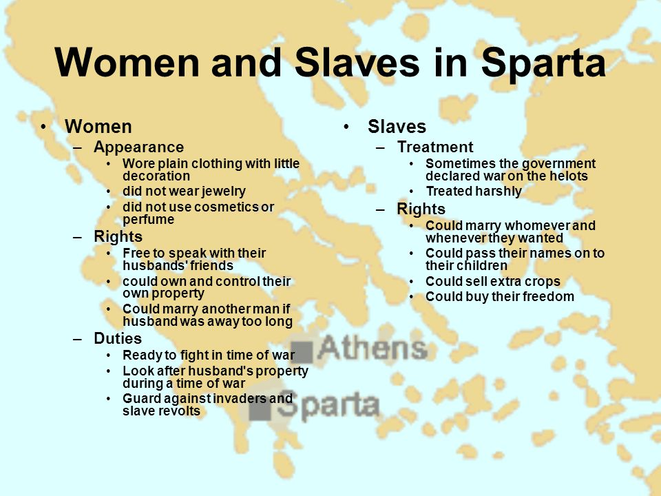 Women and Slaves in Sparta