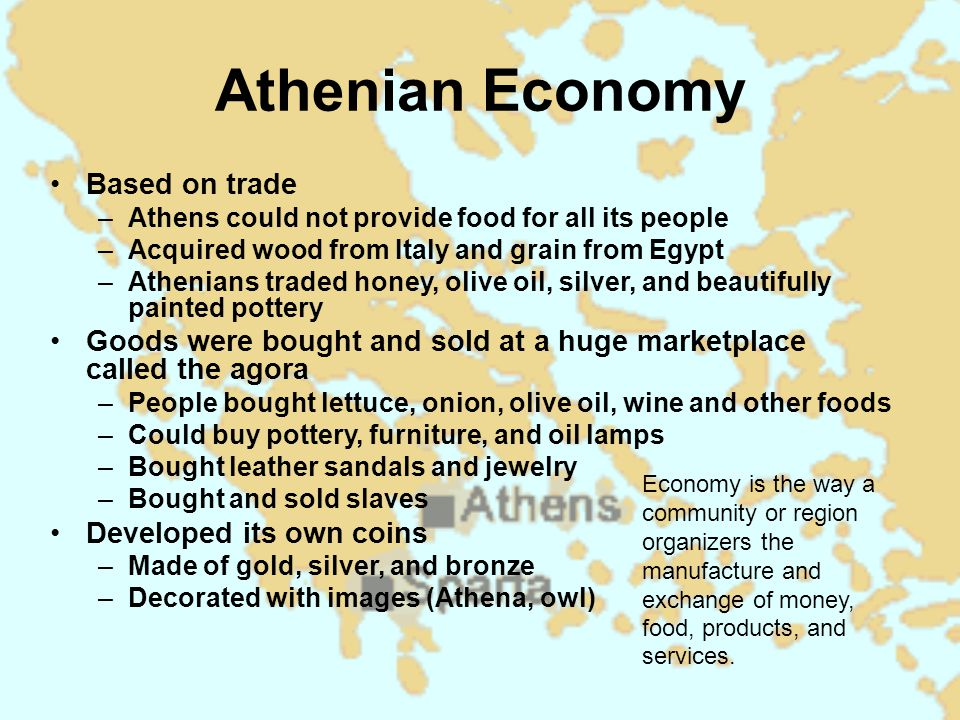 Athenian Economy Based on trade