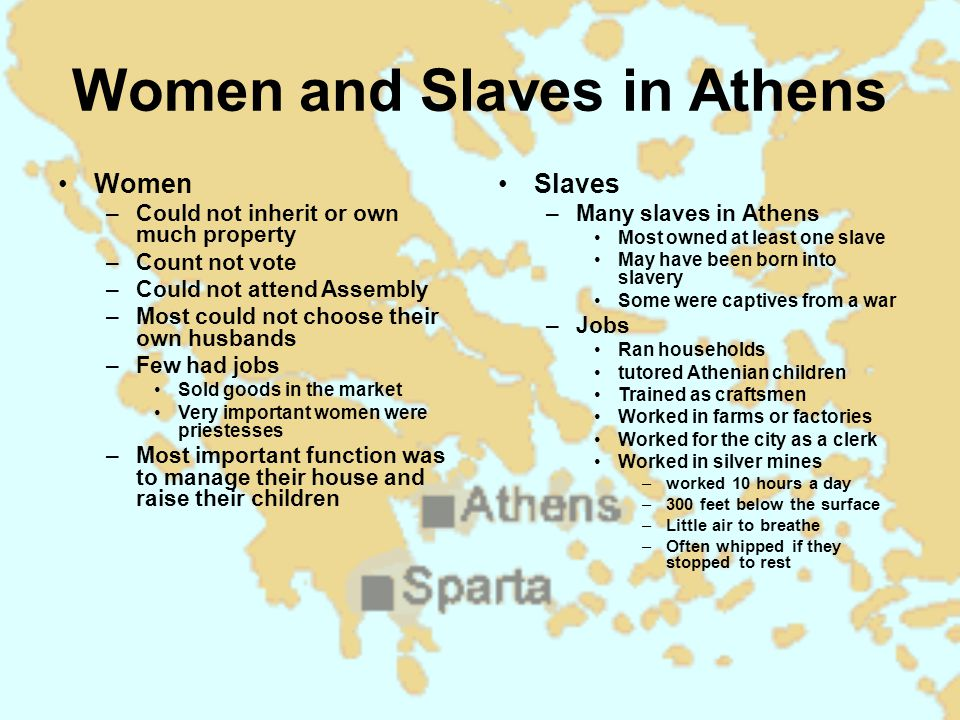 Women and Slaves in Athens