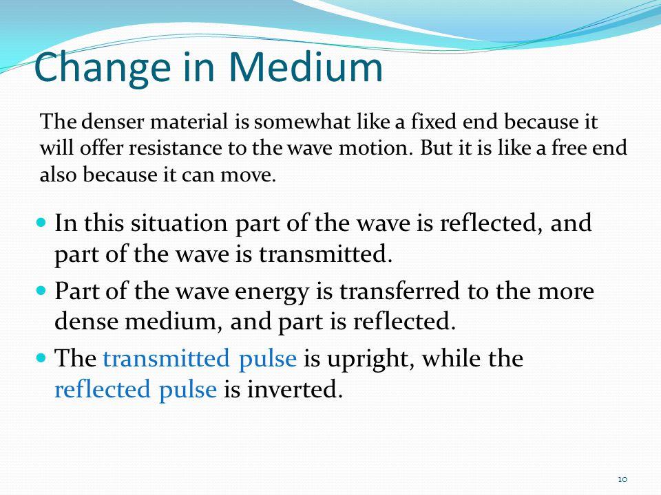 Change in Medium