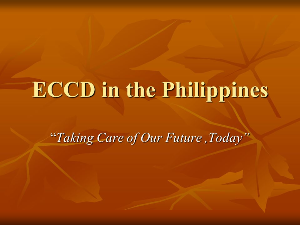 ECCD in the Philippines