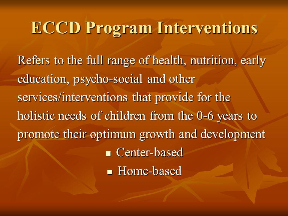 ECCD Program Interventions