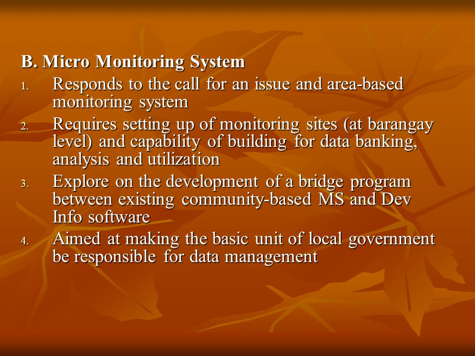 B. Micro Monitoring System