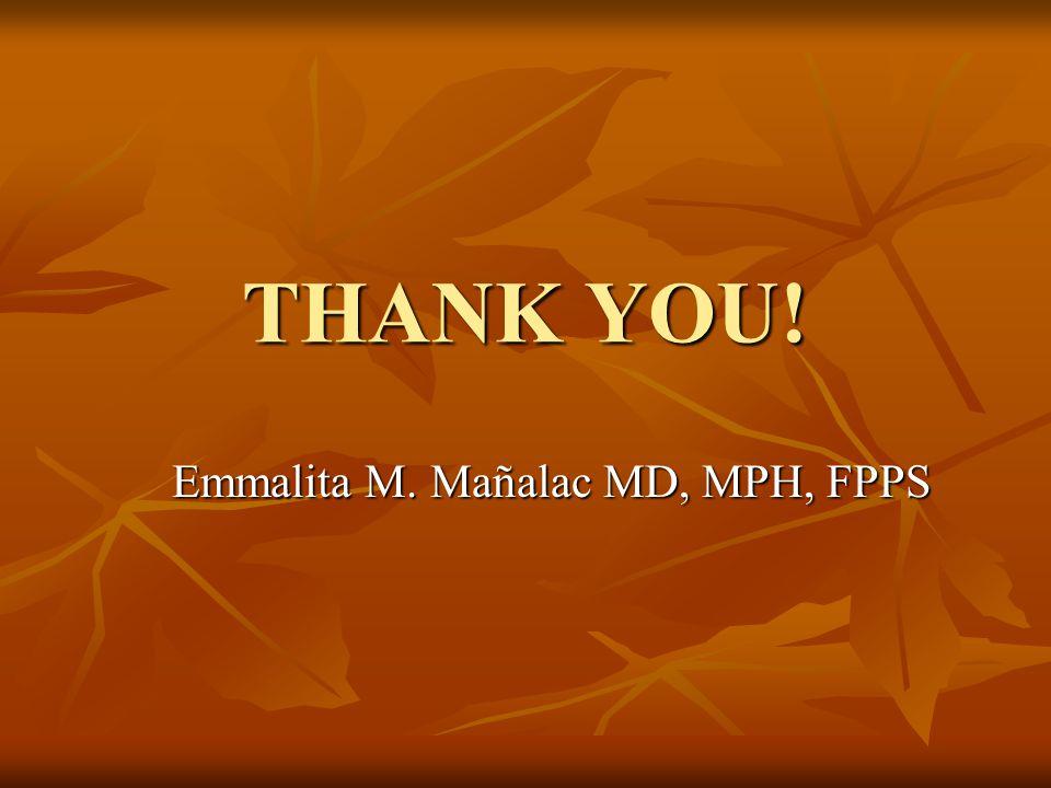 Emmalita M. Mañalac MD, MPH, FPPS