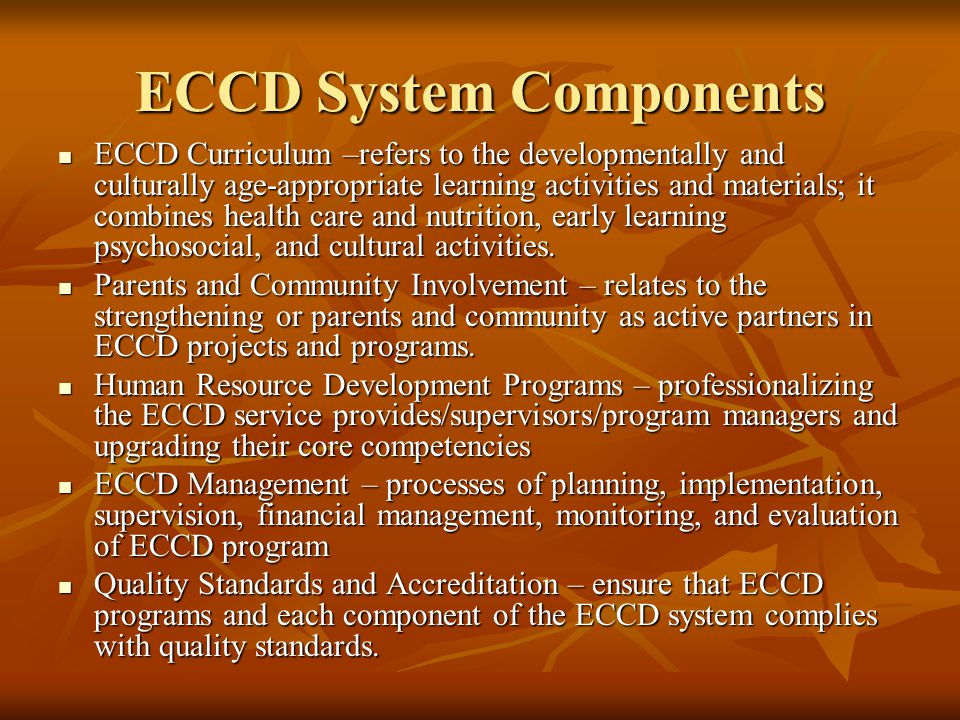 ECCD System Components