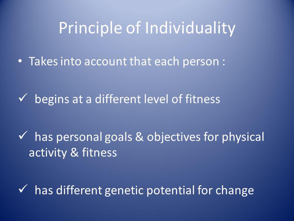 Principle of Individuality