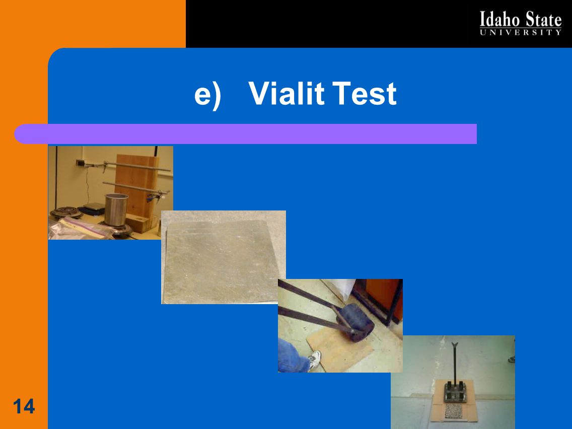 e) Vialit Test