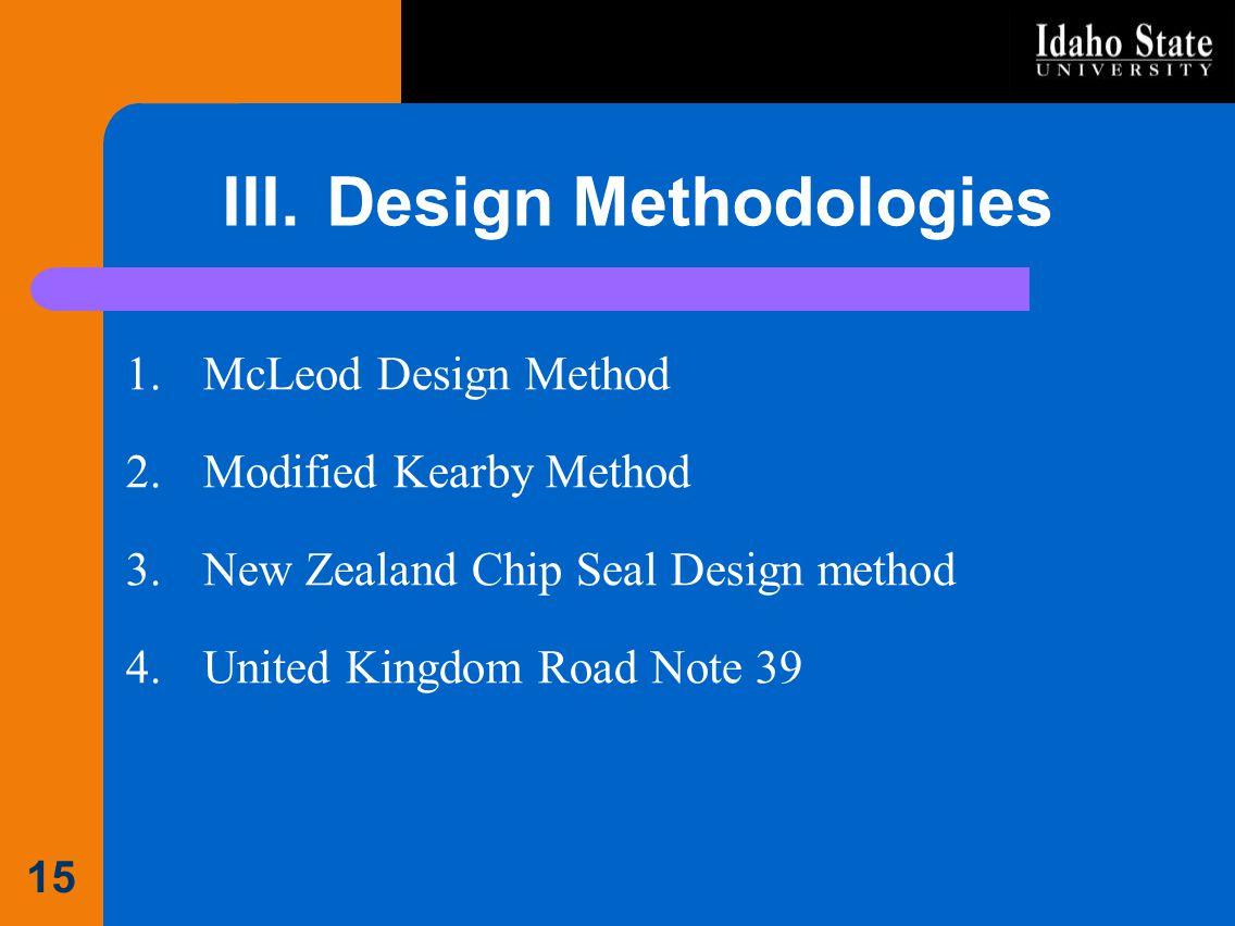 III. Design Methodologies