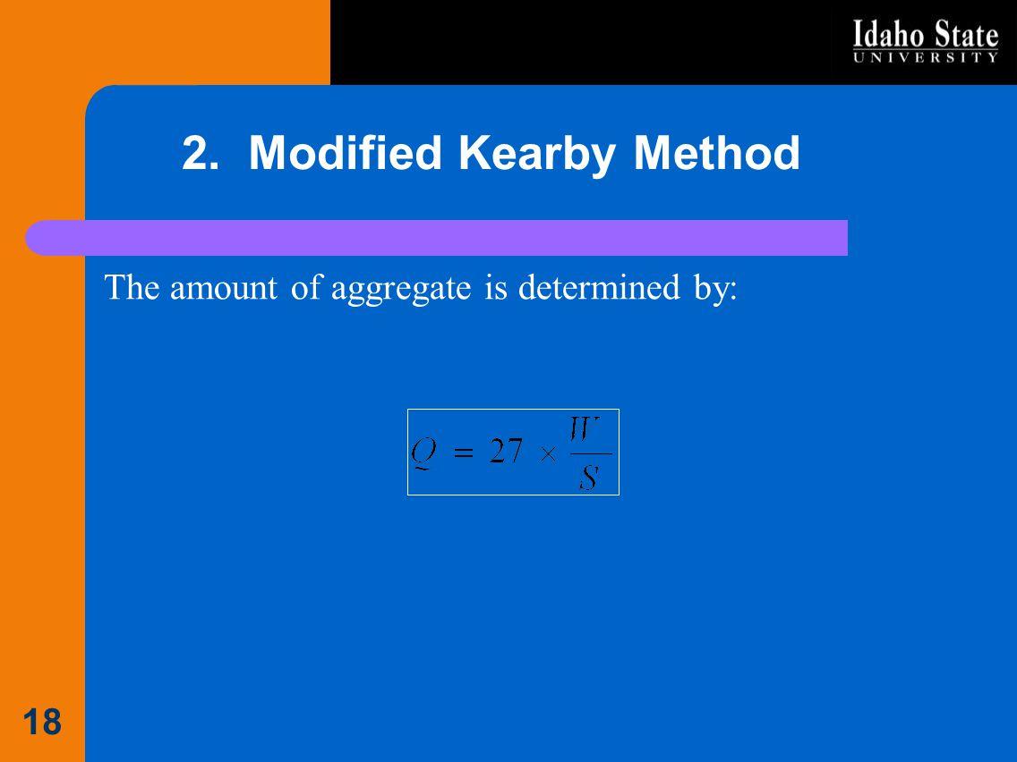 2. Modified Kearby Method