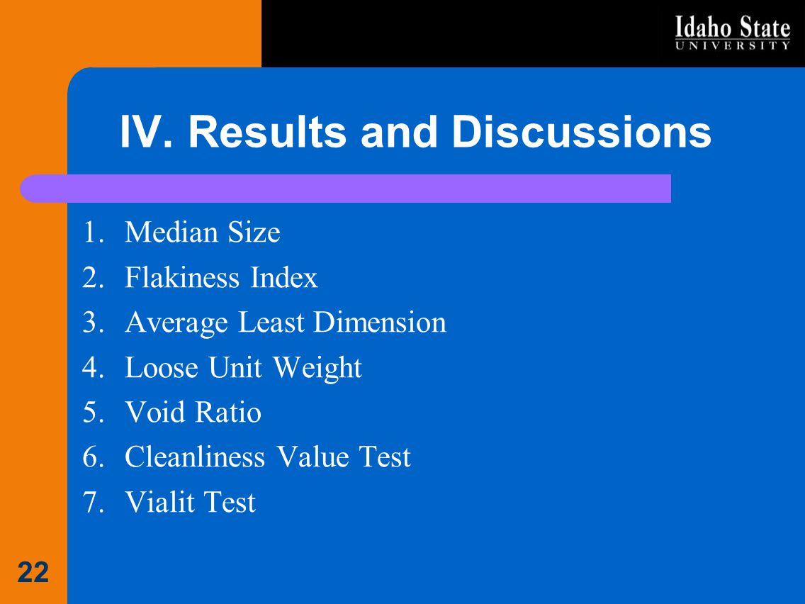 IV. Results and Discussions