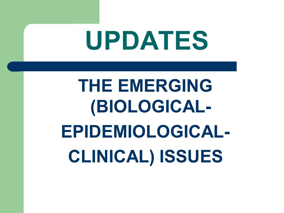 THE EMERGING (BIOLOGICAL-