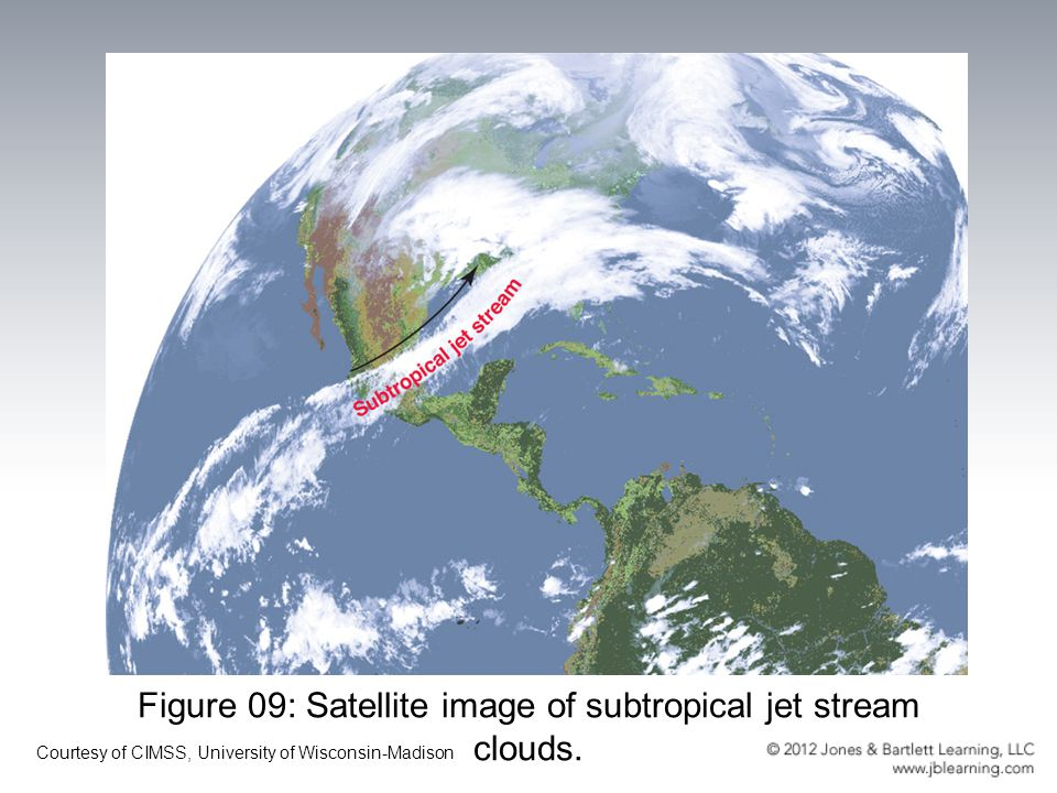 Figure 09: Satellite image of subtropical jet stream clouds.