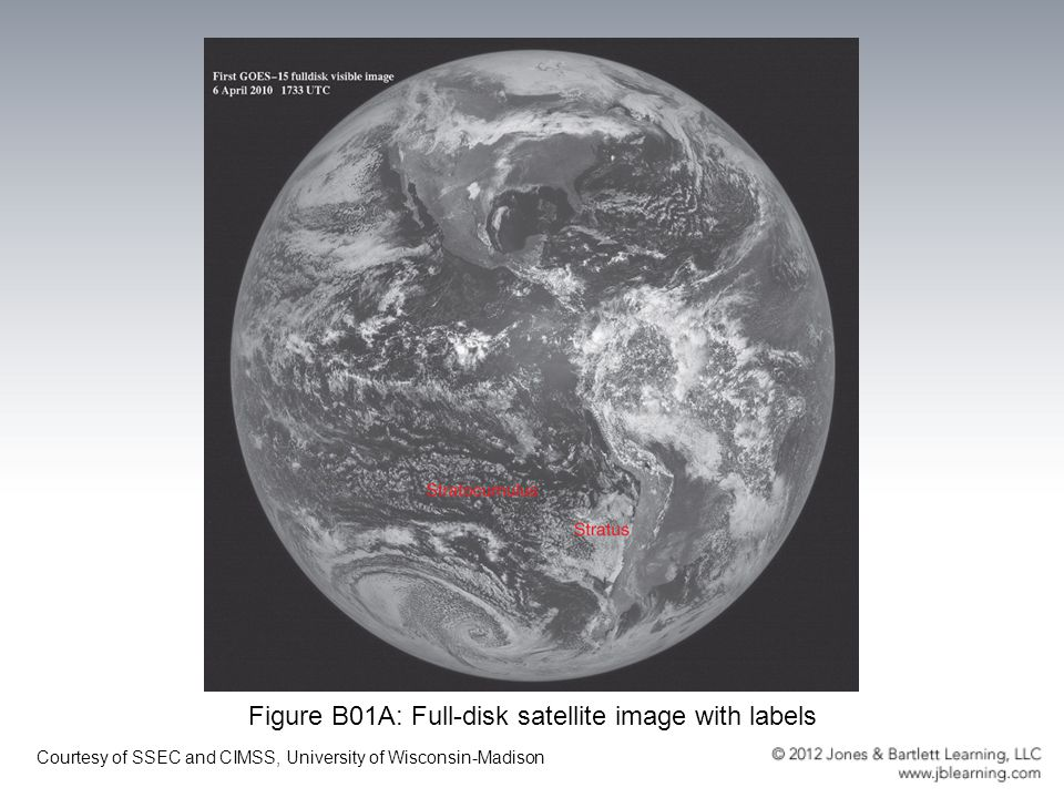 Figure B01A: Full-disk satellite image with labels