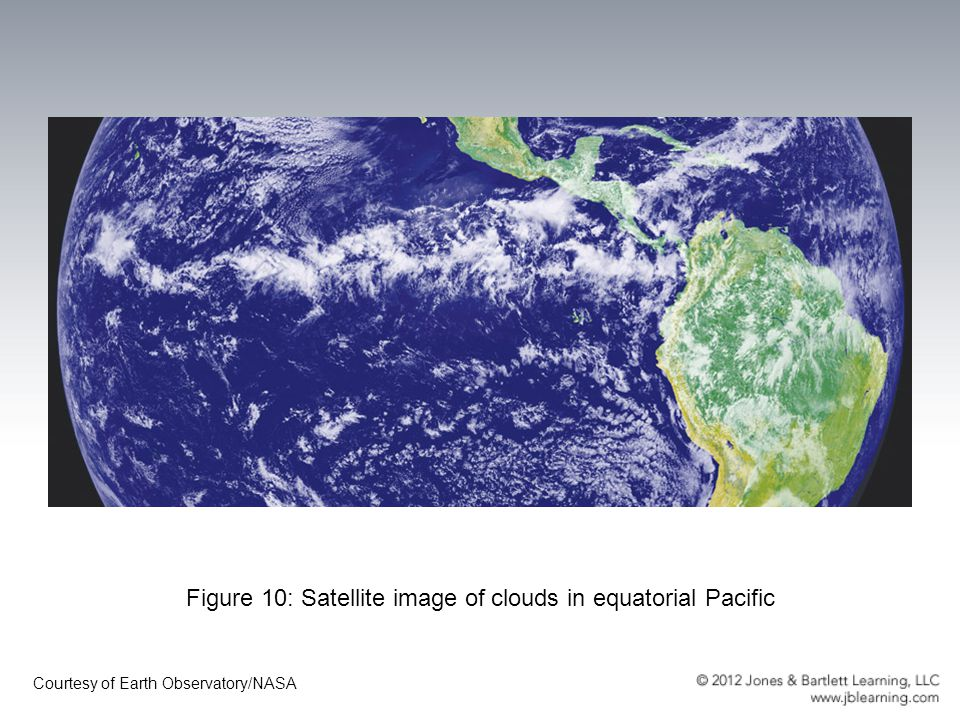 Figure 10: Satellite image of clouds in equatorial Pacific