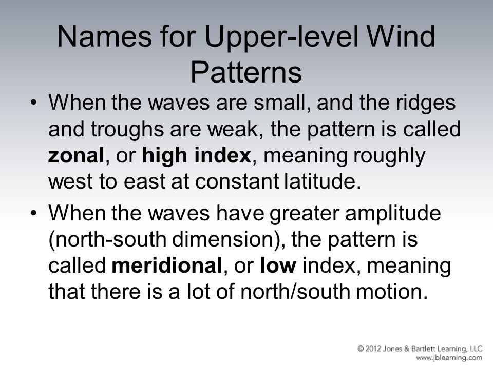 Names for Upper-level Wind Patterns