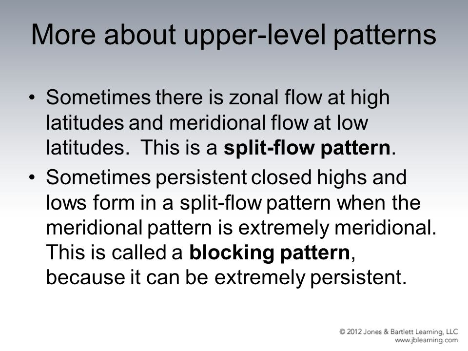 More about upper-level patterns
