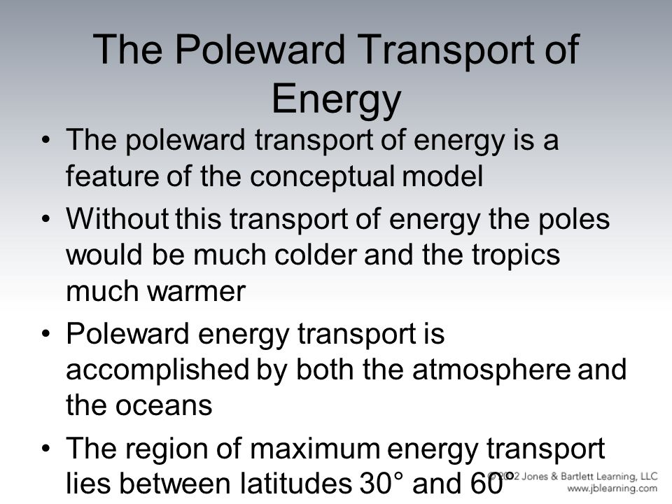 The Poleward Transport of Energy