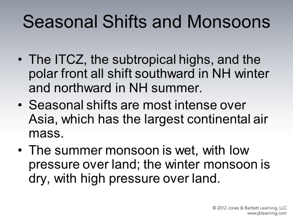 Seasonal Shifts and Monsoons