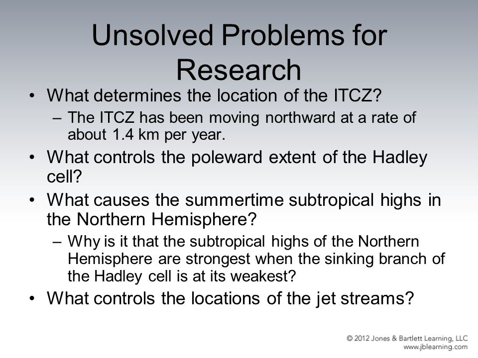 Unsolved Problems for Research