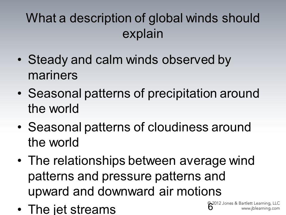 What a description of global winds should explain