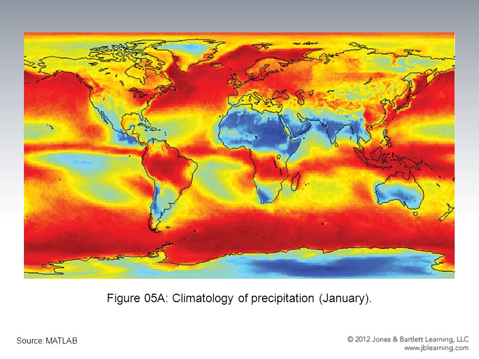 Figure 05A: Climatology of precipitation (January).