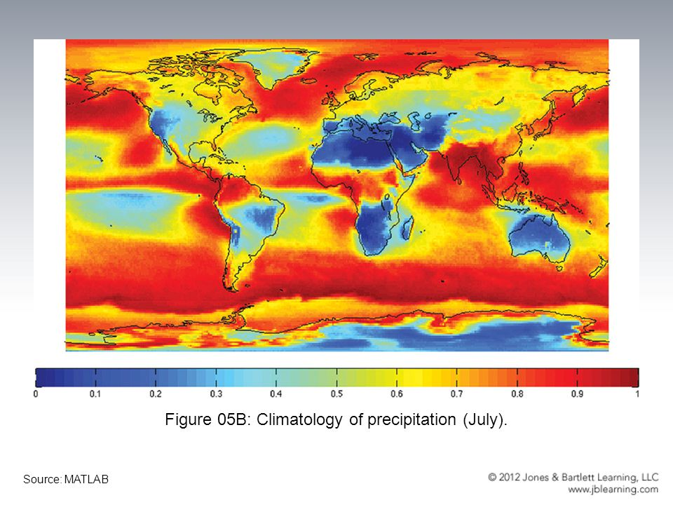 Figure 05B: Climatology of precipitation (July).