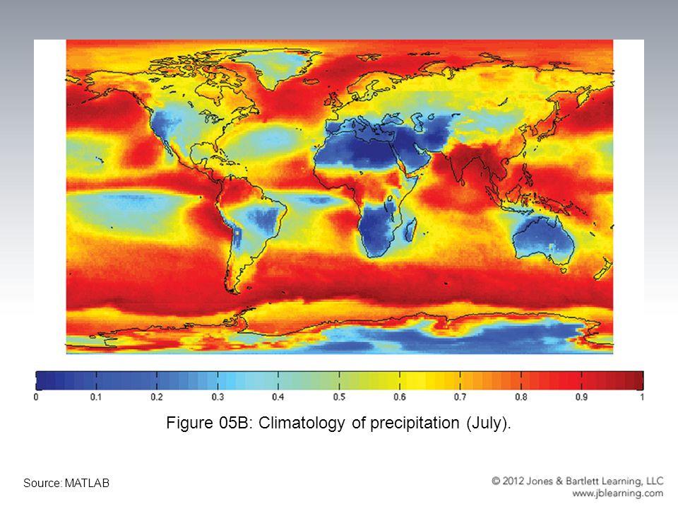 Figure 05B: Climatology of precipitation (July).